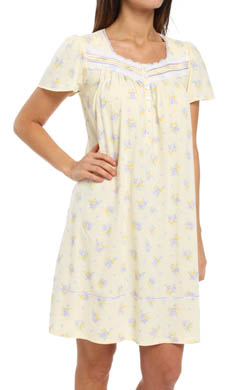 Aria Lavender Spell Short Sleeve Short Nightgown