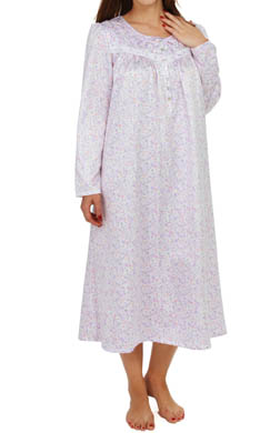Aria Brushed Back Satin Long Sleeve Ballet Nightgown
