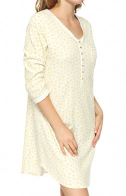 Aria Falling Leaves 3/4 Sleeve Short Nightshirt