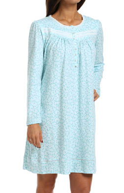 Aria Lavender Potpourri Long Sleeve Long Nightgown