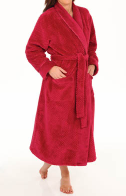 Aria Solid Dimple Chenille Wrap Robe