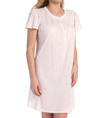 Aria Romantic Florals Short Sleeve Short Nightgown