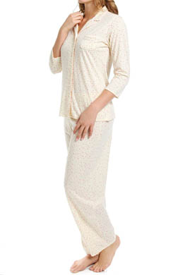 Aria Vintage Romance 3/4 Sleeve Long PJ Set