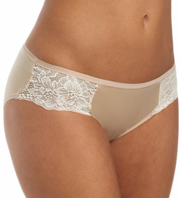 Bali One Smooth U Comfort Satin Lace Bikini Panty