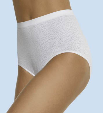 Bali Microfiber Damask Top Brief Panty