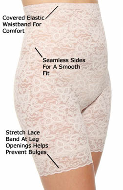 Bali Lace 'N Smooth Hi-Waist Thigh Slimmer