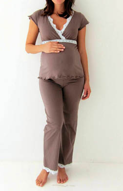Belabumbum Ariel Nursing Cami and Pant with Lace Trim