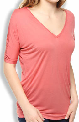 Bella Luxx V Neck Slouchy Top