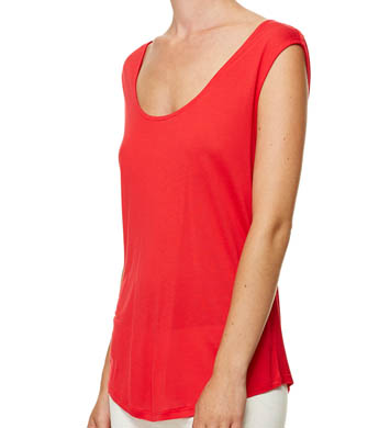 Bella Luxx Drape Back Muscle Tank