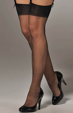 Berkshire Ultra Sheer Back Seam Thigh High