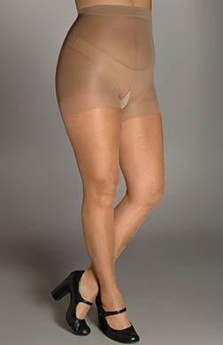 Berkshire Shimmers Plus Size Control Top Sheer Toe