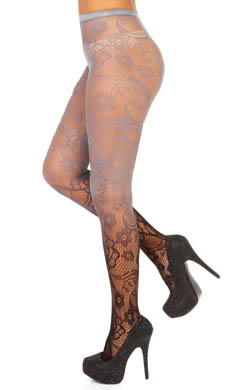 Betsey Johnson Hosiery Revolutionary Rose Net Tights
