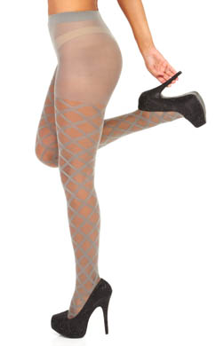 Betsey Johnson Hosiery Diamond Diva Sheer Tights