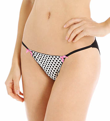 Betsey Johnson Intimates Pretty Pin-Up Microfiber Bikini Panty