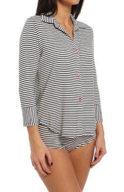 Betsey Johnson Intimates Stripe Rayon Knit Hipster Set