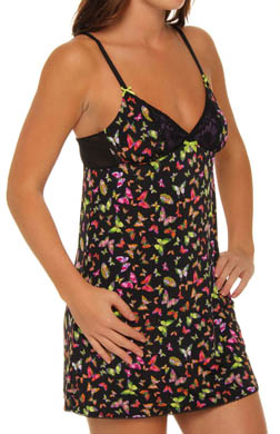 Betsey Johnson Intimates Flight Pattern Slinky Knit Slip