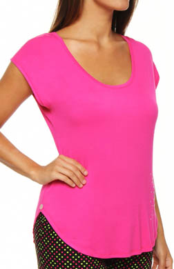 Betsey Johnson Intimates Rayon Solid Knit Tee