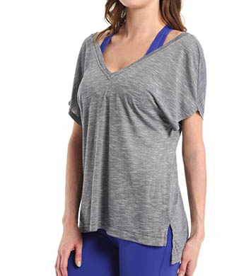 Beyond Yoga Slub Knit Double V Tee