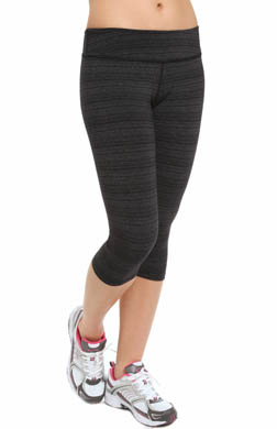 Beyond Yoga Striped Supplex Essential Capri Legging