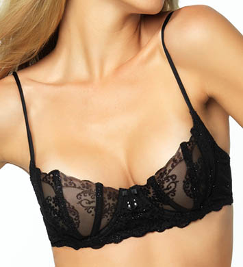 Black Bow Rue Fauvet Unlined Bra