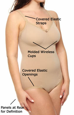 Body Wrap The Pinup Plus No Wire Full Figure Bodysuit