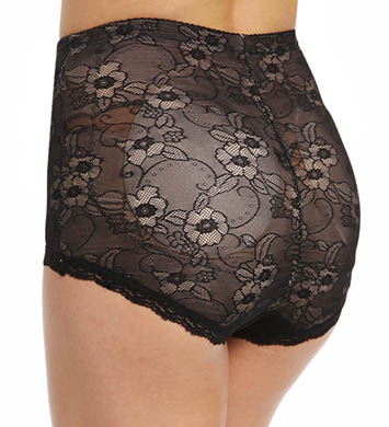 BODYSLIMMERS Nancy Ganz Lace Butt Booster Brief with Removable Pads