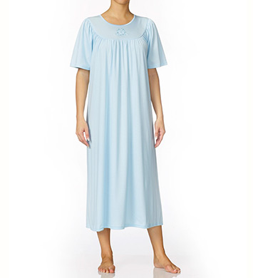 Calida Soft Cotton Short Sleeve Night Shirt Gown
