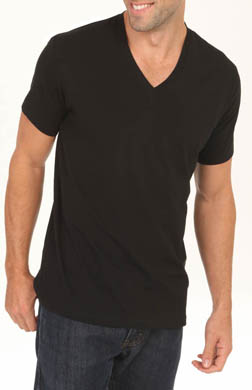 Calvin Klein NB Black Cotton Shortsleeve V-Neck