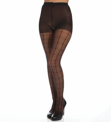 Calvin Klein Hosiery Window Pane Sheer Pantyhose With Control Top
