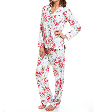Carole Hochman Whistful Rosebuds Pj Set