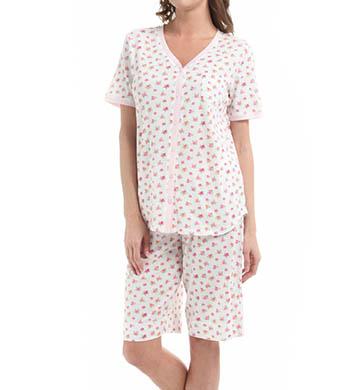 Carole Hochman Vintage Ditsy Bermuda Pajama Set