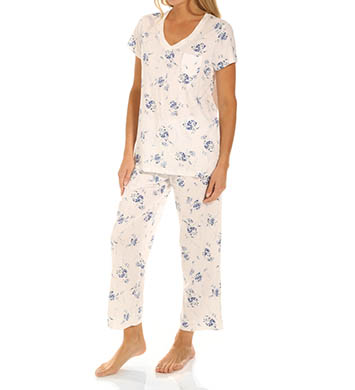 Carole Hochman Flowering Nights Capri Pajama Set