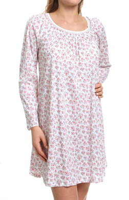 Carole Hochman Whistful Rosebuds Long Sleeve Sleepshirt