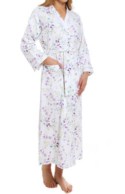 Carole Hochman Dancing Rosebud Stripe Long Robe