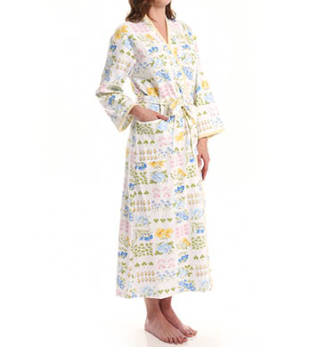 Carole Hochman Garden Reverie Long Diamond Quilted Robe