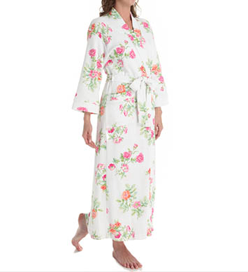 Carole Hochman Botanical Ditsy Long Robe