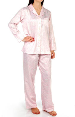 Carole Hochman Brush Back Satin Pajama