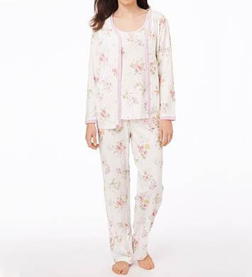 Carole Hochman Morning Glory 3 Piece Pajama Set