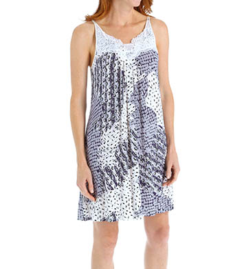Carole Hochman Midnight Mixed Prints Chemise