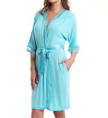 Carole Hochman Midnight Lovely In Lace Robe