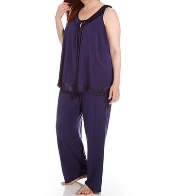 Carole Hochman Midnight Jeweled PJ Set Plus Size
