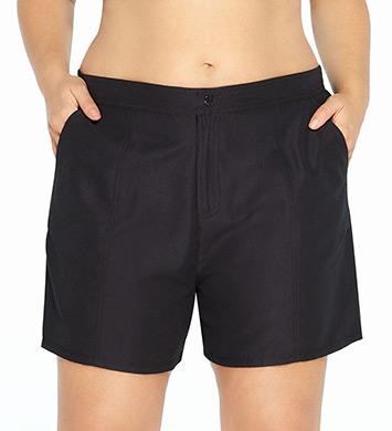 Christina Solid Plus Size Swim Short
