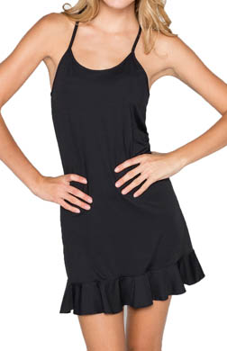 Coco Rave Solids Ruffle Hem Cover Up Dress