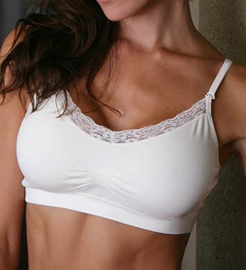 Coobie Strappy V-Neck Lace Trim Bra