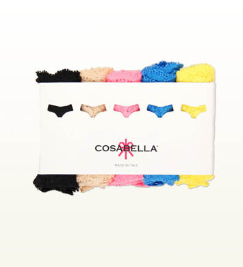 Cosabella Never Say Never Bootie Thongs -  5 Pack