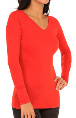 Cuddl Duds ActiveLayer Reversible V Neck/Ballet Neck
