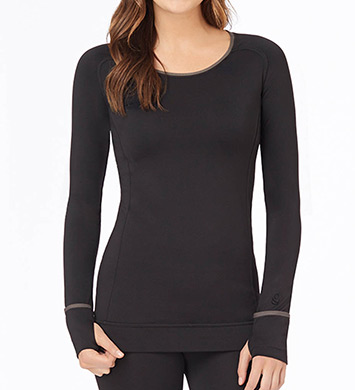 Cuddl Duds Smooth Plush Long Sleeve Scoop