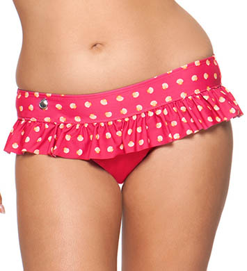 Curvy Kate Seashell Ruffle Swim Brief Swim Bottom