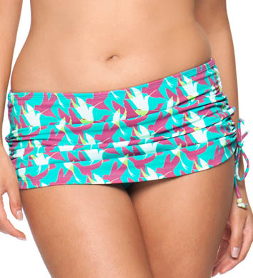 Curvy Kate Birds of Paradise Swim Skirt Swim Bottom