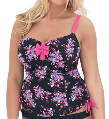 Curvy Kate Moonflower Non Padded Tankini Swim Top